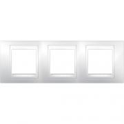 Рамка 3-я Unica Хамелеон Белый для горизонтального монтажа