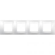 Рамка 4-я Unica Хамелеон Белый для горизонтального монтажа