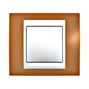 Рамка 1-я Unica Хамелеон Оранжевый/Белый