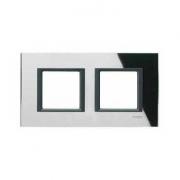 Рамка 2-я Unica Class Черное стекло