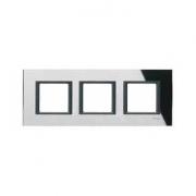 Рамка 3-я Unica Class Черное стекло