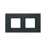 Рамка 2-я Unica Class Черный камень иберийский сланец
