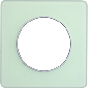 Рамка Odace, 1-я Зеленый лед, вставка алюминий