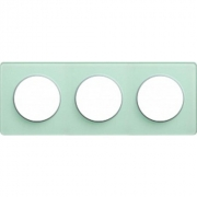 Рамка Odace, 3-я Зеленый лед, вставка алюминий