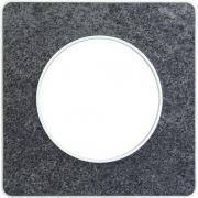 Рамка Odace, 1-я Черный фосфор, вставка белая
