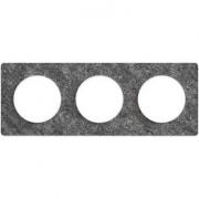 Рамка Odace, 3-я Черный фосфор, вставка белая