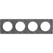 Рамка Odace, 4-я Черный фосфор, вставка белая