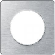 Рамка Odace, 1-я Полированный алюминий, вставка алюминий
