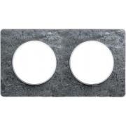 Рамка Odace, 2-я Морской камень, вставка белая