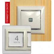 Рамка Valena 4-я Белый/Серебрянный штрих