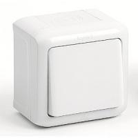Выключатель 1-клавишный IP-44 Legrand Quteo (Белый)