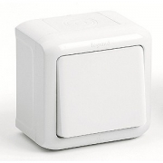 Проходной выключатель 1-клавишный IP-44 Legrand Quteo (Белый)