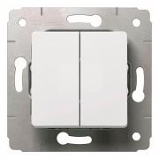 Переключатель на 2 направления, 2-клавишный, 250В, белый, Cariva