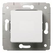 Выключатель 1-клавишный, IP44, 250В, белый, Cariva