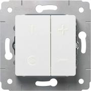 Светорегулятор кнопочный, 500Вт, 230В, белый, Cariva