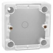 Коробка для накладного монтажа, глубина 26мм, для выключателей и переключателей, белая, Cariva