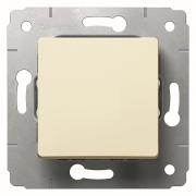 Выключатель 1-клавишный, IP44, 250В, слоновая кость, Cariva