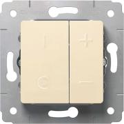 Светорегулятор кнопочный, 500Вт, 230В, слоновая кость, Cariva