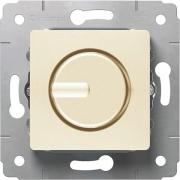 Светорегулятор поворотный, 300Вт, 230В, слоновая кость, Cariva