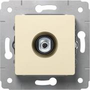 Розетка TV, тип F, 0-2400МГц, 1.5дБ, слоновая кость, Cariva