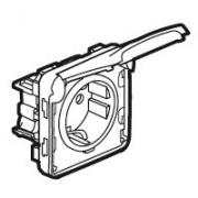 Розетка 2К+З, нем.стандарт, с безвинтовыми зажимами, с крышкой в сборе, с лицевой панелью, белая Plexo