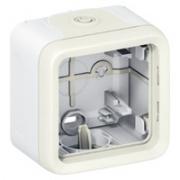 Коробка для накладного монтажа ,IP 55, 1П,белая Plexo