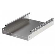 DKC Лоток оцинкованная сталь неперфорированный 400x100мм (1шт.-3м) (35105)