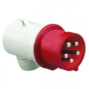 Вилка кабельная угловая DKC Quadro IP44 32A 3P+E+N 400В
