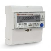 Счетчик электроэнергии однофазный многотарифный (двухтарифный) Нева124 AS OP 60/5 Т4 D 220В оптопорт неразборный корпус