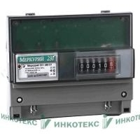 Счетчик электроэнергии трехфазный однотарифный Меркурий 231 AМ-01 60/5 Т1 DIN кл1 230/400В ОУ (231AМ-01)