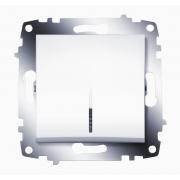 Выключатель одноклавишный ABB Cosmo с подсветкой (Белый)