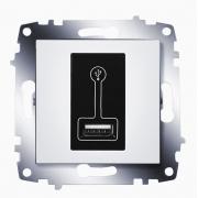 Зарядка USB, 500 мА ABB Cosmo (Белый)