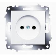 Розетка электрическая без заземления ABB Cosmo (Белый)