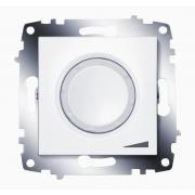 Диммер поворотный 800Вт ABB Cosmo с подсветкой (Белый)