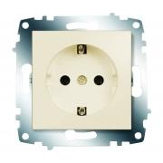 Розетка электрическая с заземлением ABB Cosmo (Кремовый)
