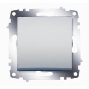 Выключатель одноклавишный ABB Cosmo (Алюминий)
