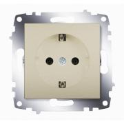 Розетка электрическая с заземлением ABB Cosmo (Титаниум)