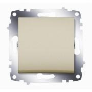 Выключатель одноклавишный ABB Cosmo (Титаниум)