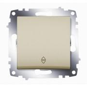 Переключатель одноклавишный ABB Cosmo (Титаниум)