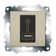Зарядка USB, 500 мА ABB Cosmo (Титаниум)