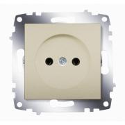 Розетка электрическая без заземления ABB Cosmo (Титаниум)