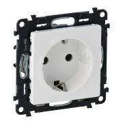 Розетка электрическая с заземлением, автоматические клеммы Valena Life (белая)
