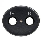 Розетка TV-R проходная Tacto (Антрацит)
