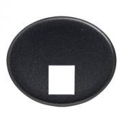 Телефонная розетка 4 контакта Tacto (Антрацит)