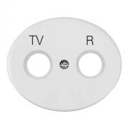 Розетка TV-R проходная Tacto (Белый)