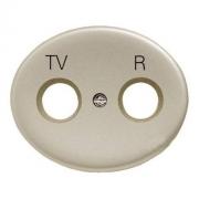 Розетка TV-R-SAT одиночная Tacto (Шампань)