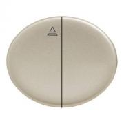 Кнопка для управления жалюзи с блокировкой одновременного включения 10А TACTO (Шампань)