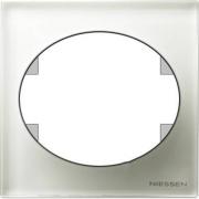 Рамка одноместная ABB Tacto (Белое стекло)