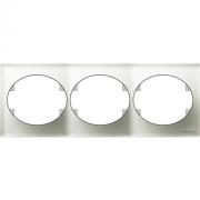 Рамка трехместная горизонтальная ABB Tacto (Белое стекло)