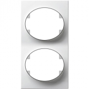 Рамка двухместная вертикальная ABB Tacto (белый)